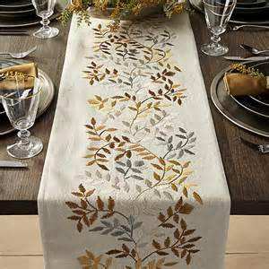 aveline 120 quot silver and gold table runner crate and barrel