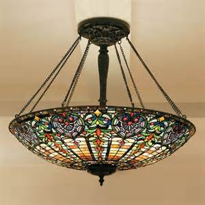 Feature Ceiling Lights Large Uplighter Ceiling Pendant Light In Stained Glass