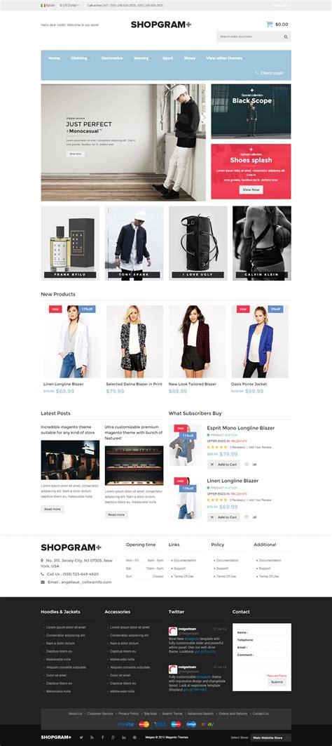 shopgram premium responsive magento theme