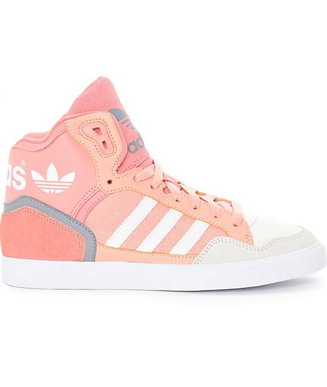 adidas extaball dust pink shoes zumiez