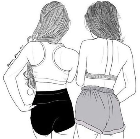 Hotpants Ck 003 617 best friend draw drawing outline drawing outlines and