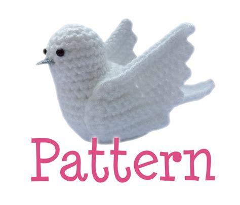 dove knitting pattern crochet amigurumi dove bird pattern by thecrochetcabin on etsy