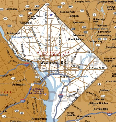 map washington dc district of columbia history and information