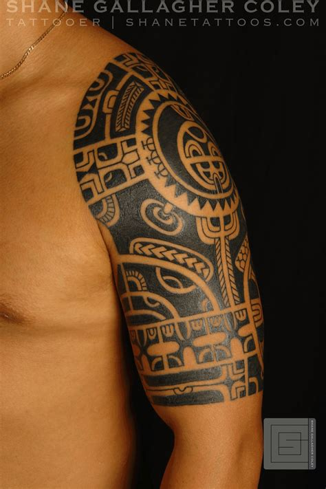 marquesan tribal tattoo shane tattoos marquesan style