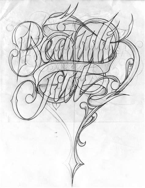 alphabet tattoo sketch chicano style lettering tattoo flash art pinterest