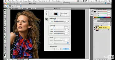 photoshop cs5 tutorial refine edge tool photoshop cs5 tutorials free adobe photoshop 12