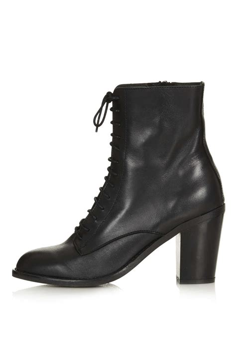 witch boots topshop abra lace up witch boots in black lyst