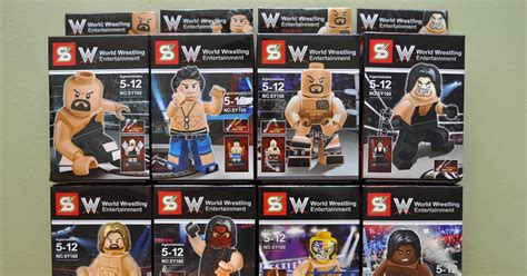 Minifig World Entertainment The Rock Undertaker my brick store lego world federation world entertainment