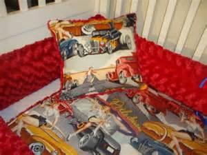 Vintage Car Crib Bedding Custom Route 66 Pinup Rod Vintage Cars Dinner Unisex Crib