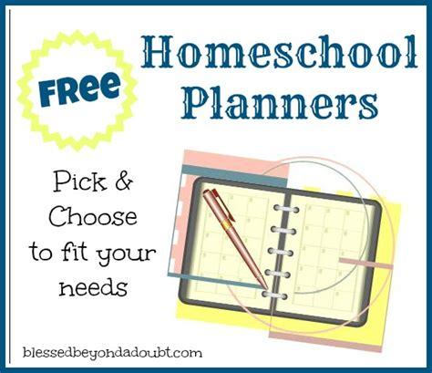 free printable homeschool planner free homeschool planners