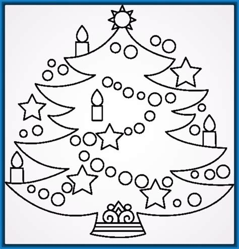 dibujos de arboles de navidad para imprimir 28 images