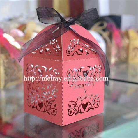 Pop up wedding favors candy box, laser cut wedding candy