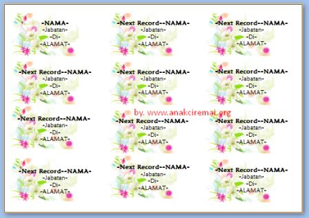 template undangan blangko download label undangan 103