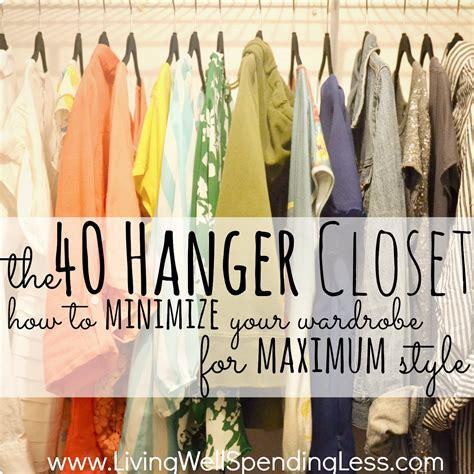 the 40 hanger closet fashion hacks closet makeover