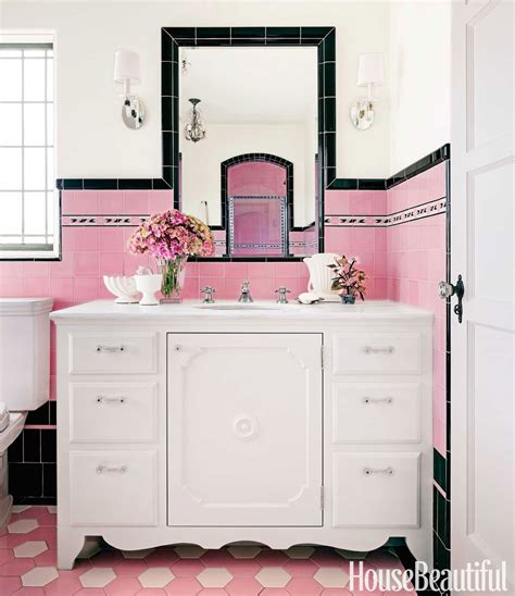 black and pink bathroom spectacularly pink bathrooms that bring retro style back