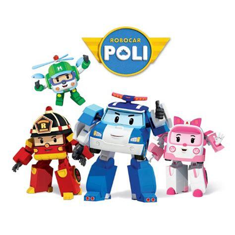 4 pcs set transformasi robocar poli robot mobil mainan
