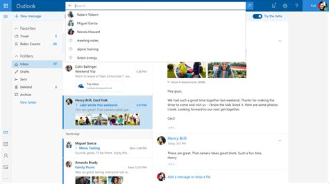 Web Developer Outlook by Introducing The Outlook Beta Office Blogs