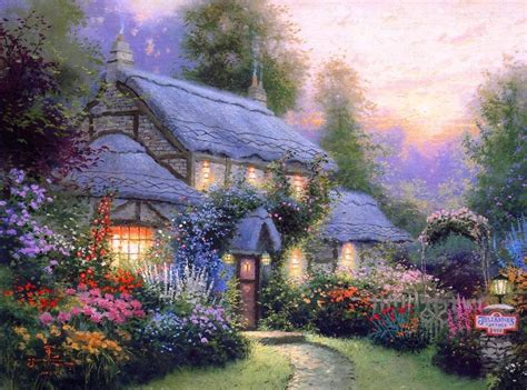 home interiors kinkade prints 2017 free shippingthomas kinkade summer cottage