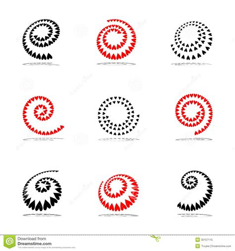 set of vector graphic elements royalty free stock photos spiral design elements set royalty free stock photo