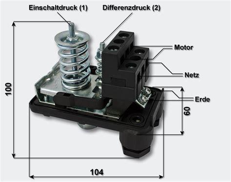 Einhell Hauswasserwerk Druckschalter Einstellen wiltec druckschalter druckw 228 chter kompressor