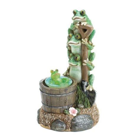 Garden Accessories Not On The High Solar Rotating Frog Garden Decor Upc 849179031022