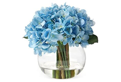 Hydrangea In Vase by 9 Quot Hydrangea In Vase Faux Glass Vase Vase And Wedding