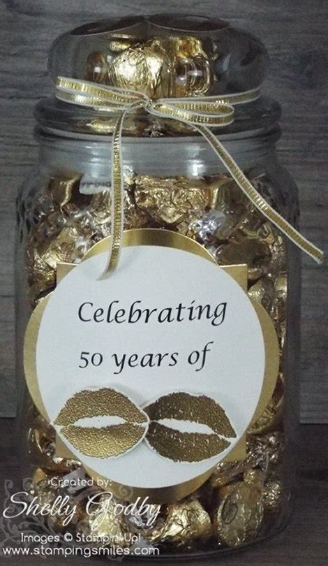 Handmade 50th Anniversary Gifts - lots of kisses for a 50th wedding anniversary gift