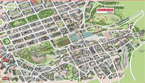 map of edinburgh scotland free coloring pages of town centre