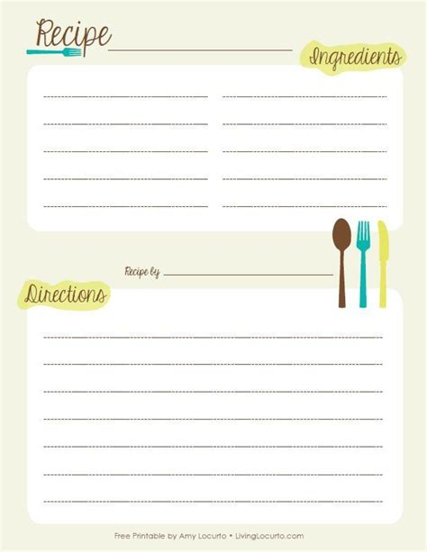 Free Recipe Book Templates Printable