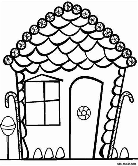 Blank Gingerbread House Coloring Pages | free blank gingerbread man coloring pages