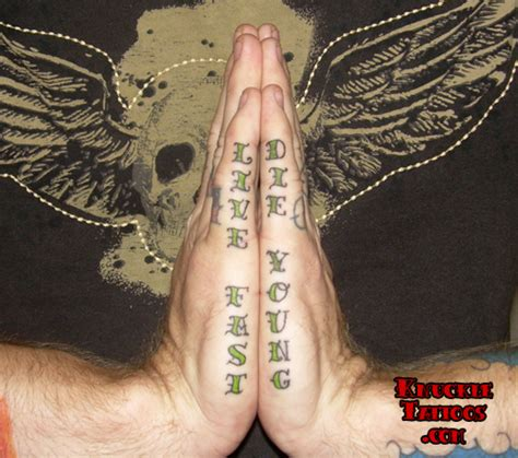 live fast die young tattoo tattoos and cult worship the landover baptist church forum