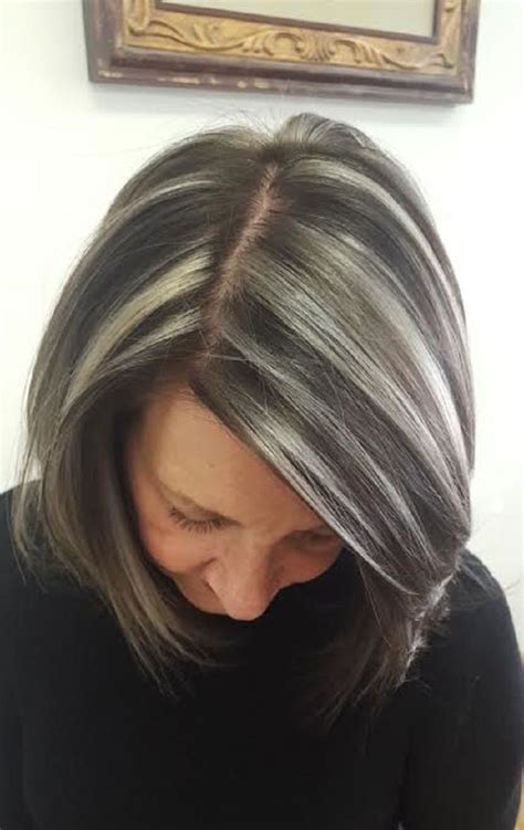edgy  elegant haircuts  women   gray hair