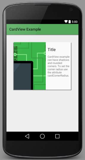 android cardview layout design android tutorial mode android cardview exle tutorial