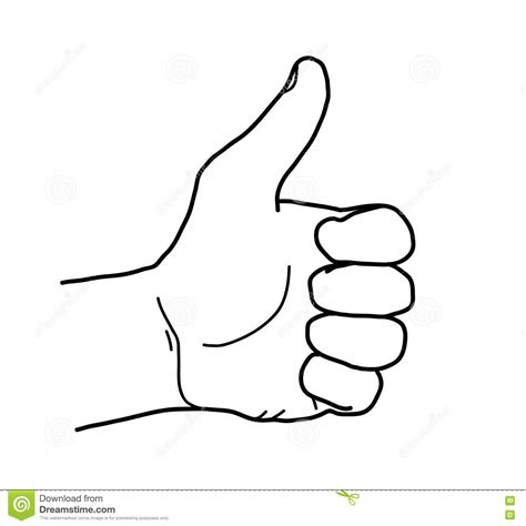 doodle sign up thumbs up sketch doodle stock vector image of thumbs