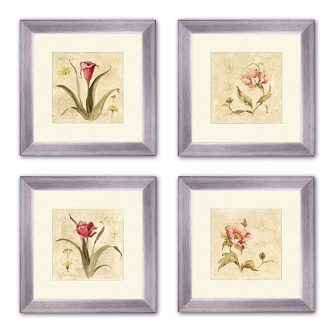 home depot wall decor ptm images 14 in x 14 in quot perfect flower quot matted framed