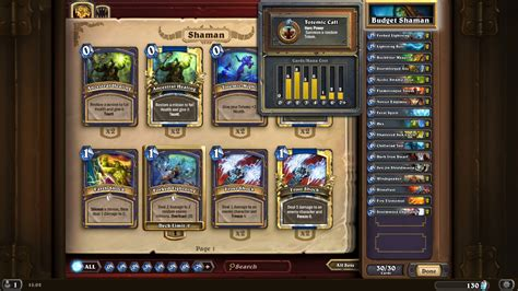 shaman deck hearthstone features deckbuilding and crafting for the