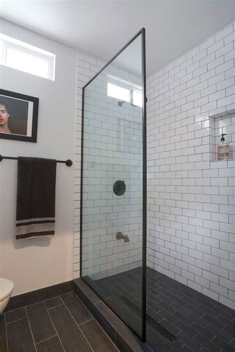 subway tile shower bathroom industrial bathroom industrial with rubbed bronze fixtures white subway tile with