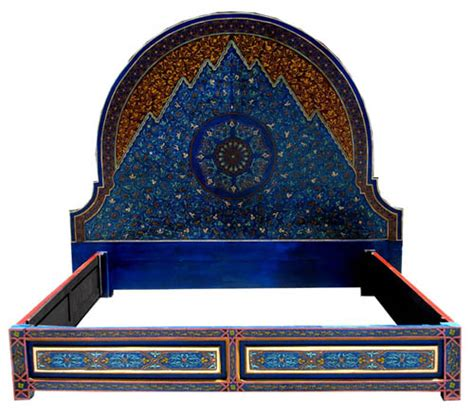 moroccan bed moroccan blue bed at justmorocco