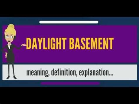 what is a daylight basement what is daylight basement what does daylight basement