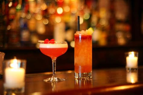 Top Ten Drinks At A Bar by Cocktail Bars In Clover Club Dram Weather Up