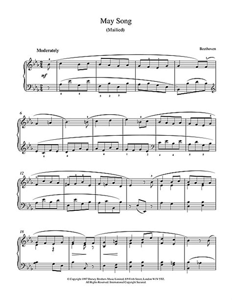 ludwig van beethoven music may song op 52 no 4 sheet music by ludwig van beethoven