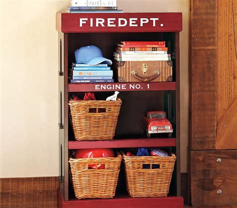firehouse bookcase pottery barn