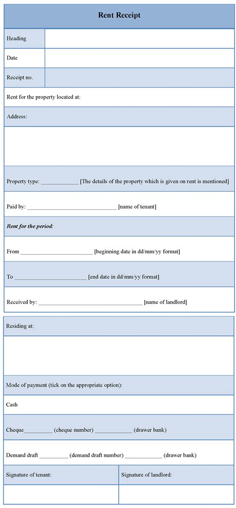 Rent Receipt Email Template by Receipt Template For Rent Template Of Rent Receipt