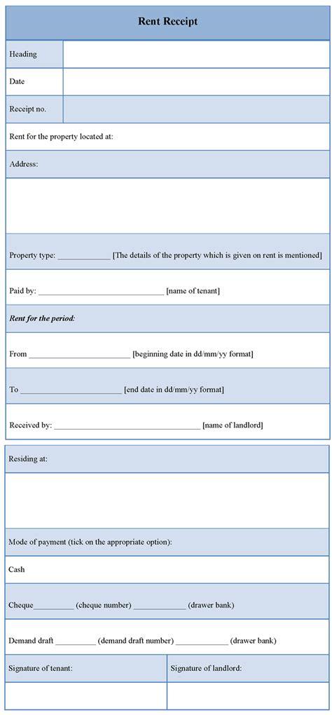 receipts template receipt template for rent template of rent receipt