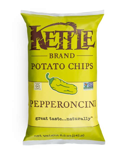 Kettle Potato Chips Snack Sea Salt Vinegar 142 Gr kettle pepperoncini potato chips 142g