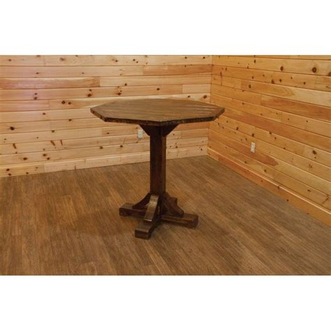 Bistro Table With Stools by Barn Wood Style Bistro Table With 4 Swivel Stools