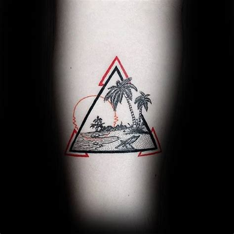 40 small beach tattoos for men seashore design ideas