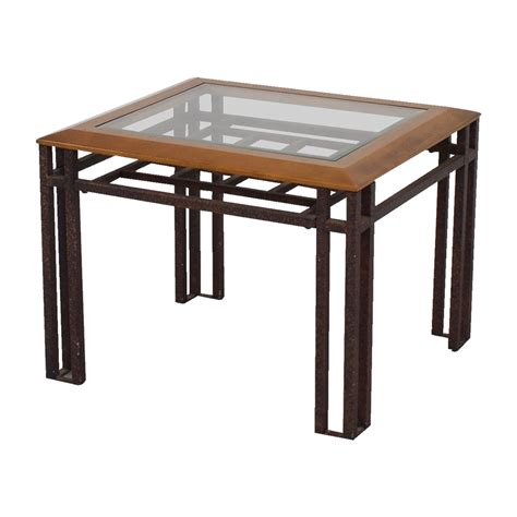 wood and glass end tables 88 rustic brass wood and glass end table tables
