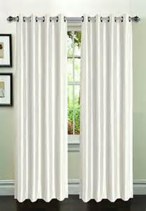 White Silk Curtains Faux Silk Curtain 2 Set White Moshells