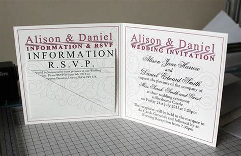 bespoke wedding invitations types of bespoke wedding invitations part 2 paperblog